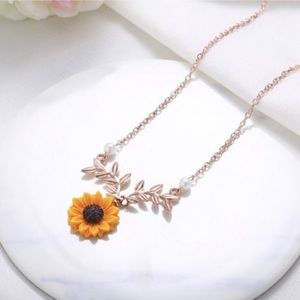 Jewelry - 2x$15🍀Rose gold necklace | sunflower necklace